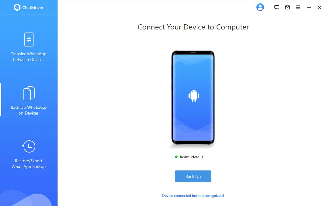 choose backup with chatmover