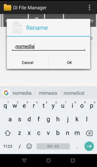 create a .nomedia file
