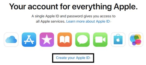create a new apple account
