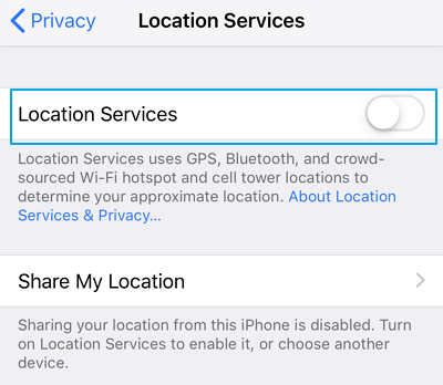 location services off