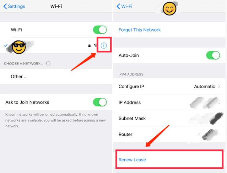 WiFi Renew Lease
