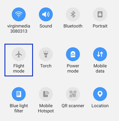 android flight mode