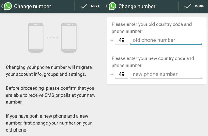 change phone number