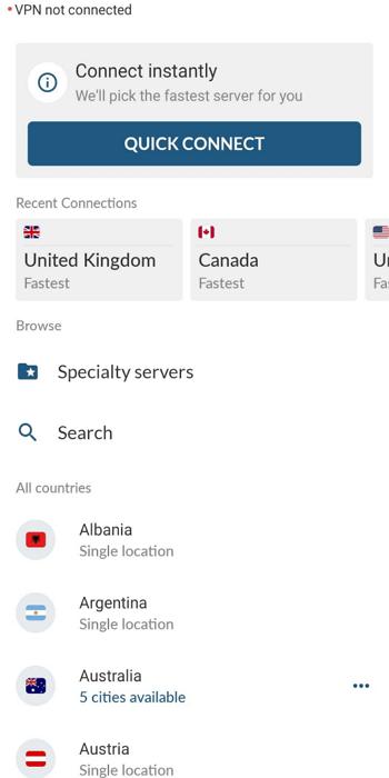change-server-nordvpn