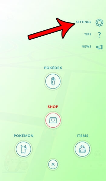 log out of pokemon go