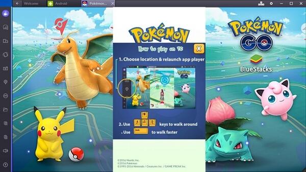 play pokemon go with bluestacks