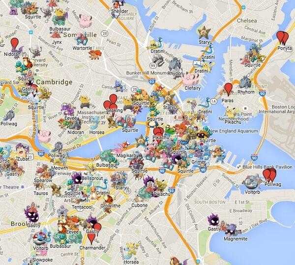 pokemon go map