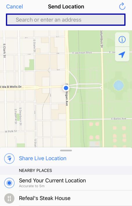 search an address