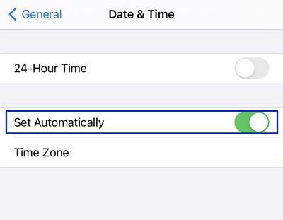 set automatically
