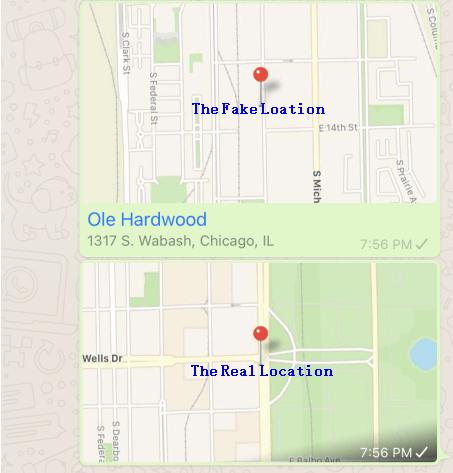 the fake location