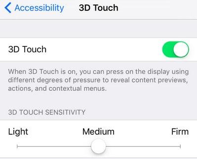 adjust 3d touch