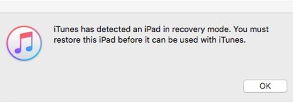 restore iPad in DFU mode via iTunes
