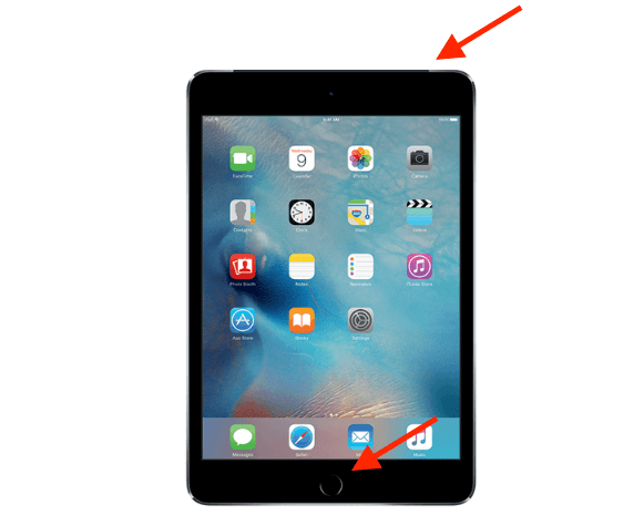 force restart ipad with home button