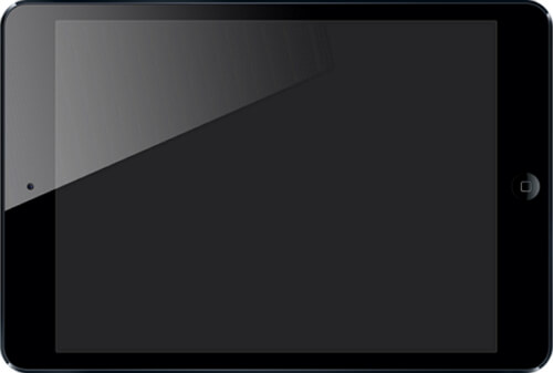 ipad black screen