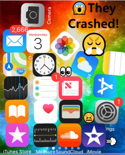 iPhone apps keep crashing