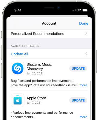 Update all apps in App Store