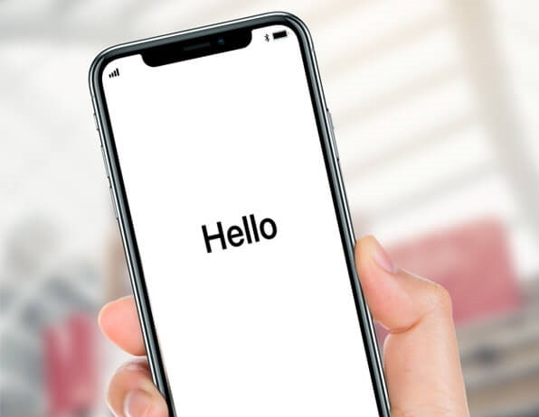 iPhone stuck on hello screen