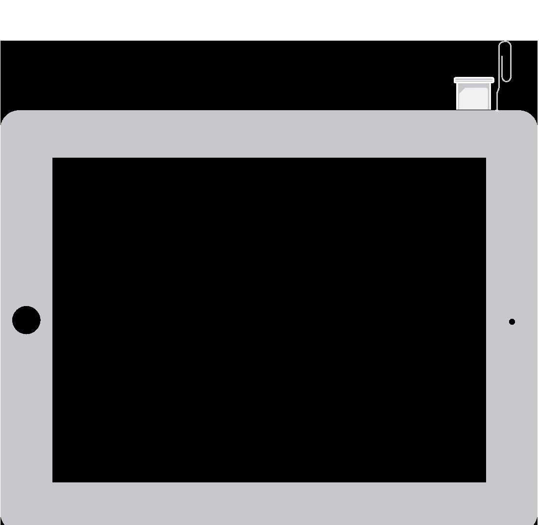 reinsert SIM card on iPad