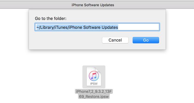 restore ipsw file