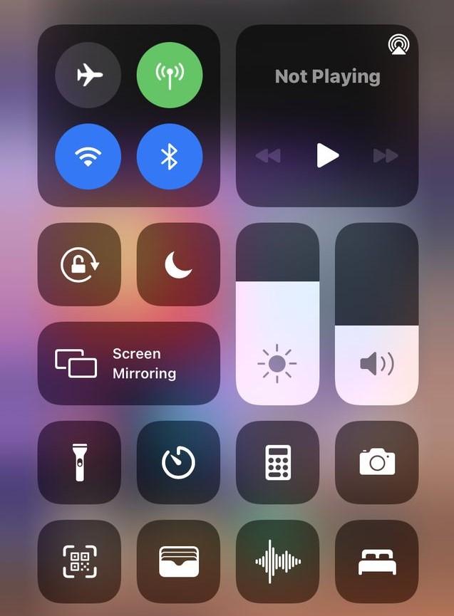 check iPhone brightness
