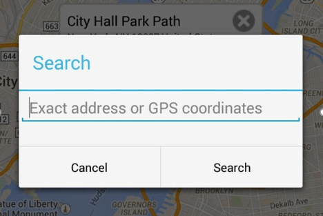 search in fake gps go