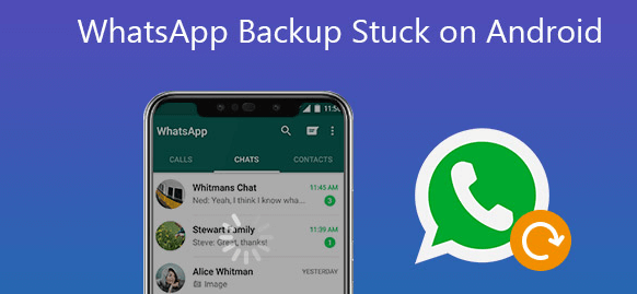 whatsapp stuck on android